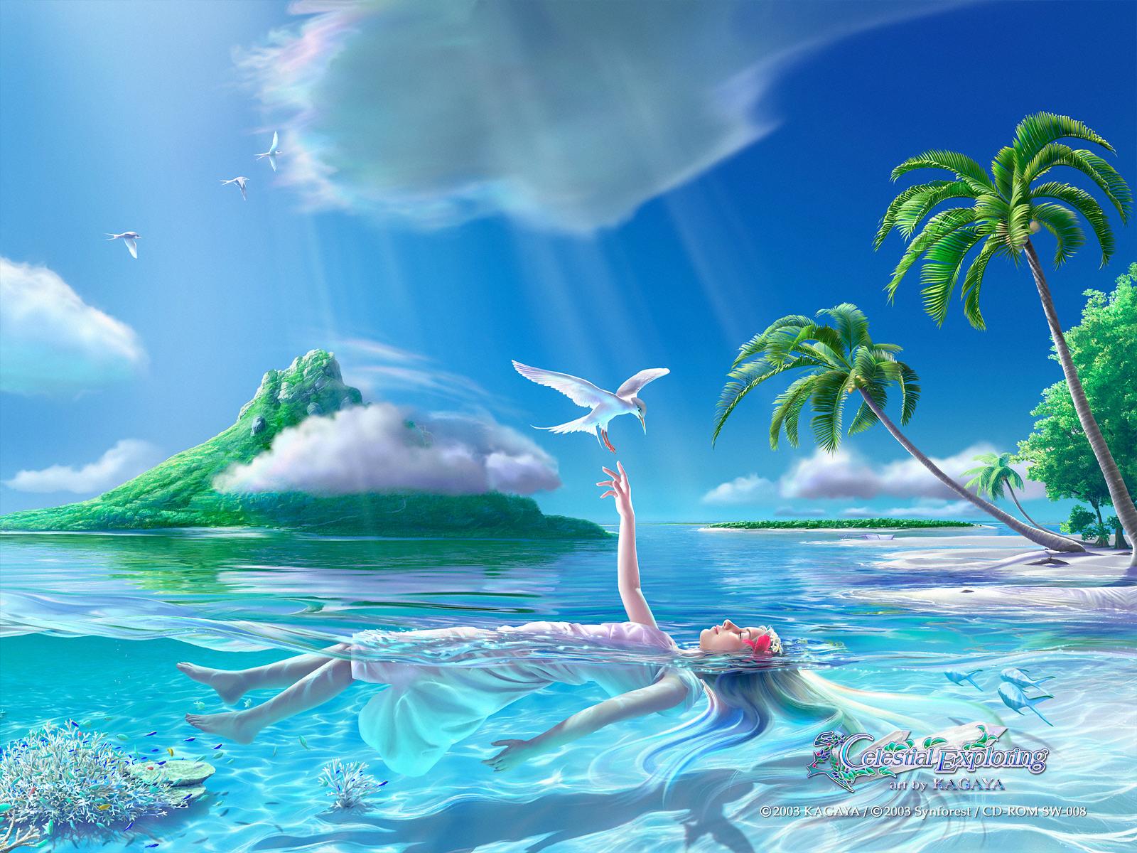 Fantasy Art by Kagaya : Celestial Exploring - Serenity - Celestial ...